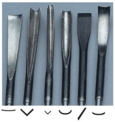 Large Wood Carving Tools, Set of 6